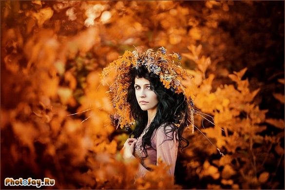Идеи фотосессии осенью в лесу 015