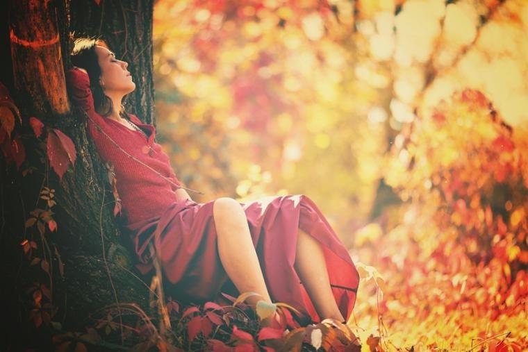 Идеи фотосессии осенью в лесу 016
