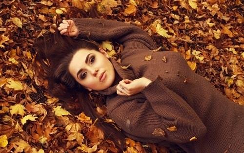 Идеи фотосессии осенью в лесу 017