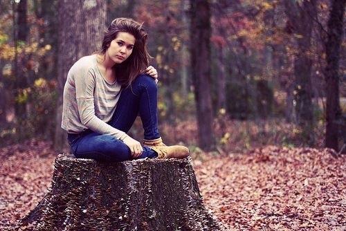 Идеи фотосессии осенью в лесу 021