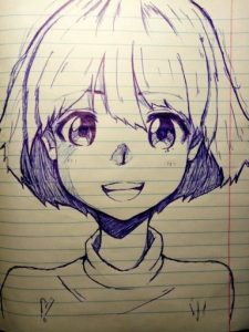 Как рисовать аниме арты 014