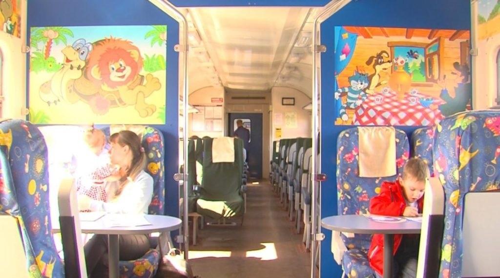 Картинка вагон для детей 003