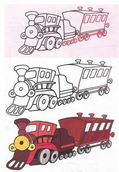 Картинка вагон для детей 016