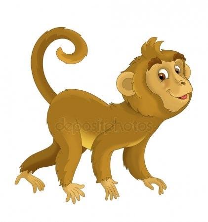 Картинка обезьянки для детей 005