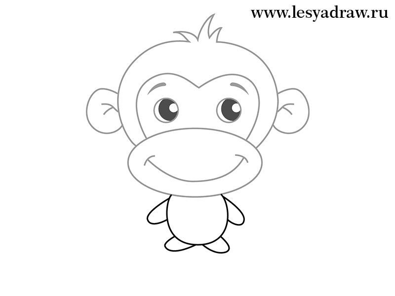 Картинка обезьянки для детей 007