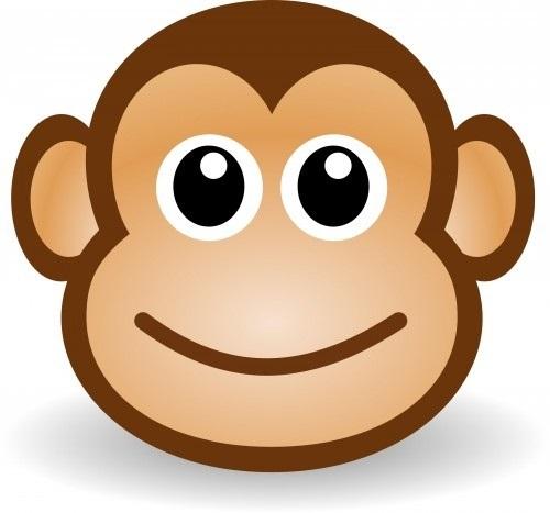 Картинка обезьянки для детей 009