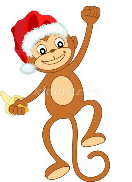 Картинка обезьянки для детей 011