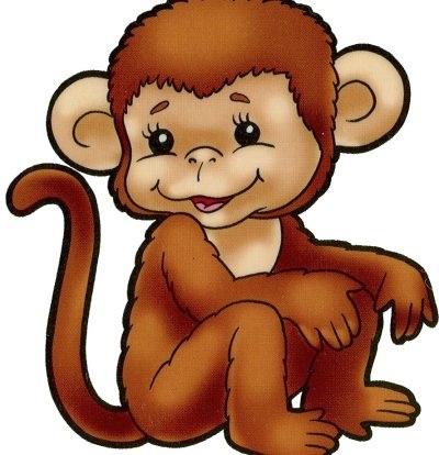 Картинка обезьянки для детей 012