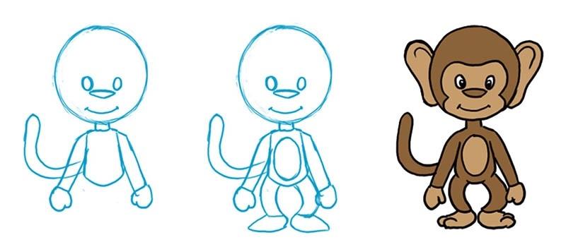 Картинка обезьянки для детей 014