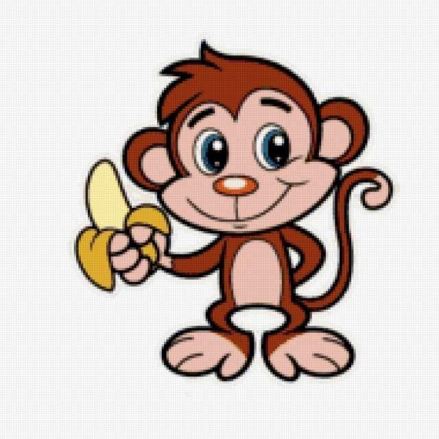 Картинка обезьянки для детей 018