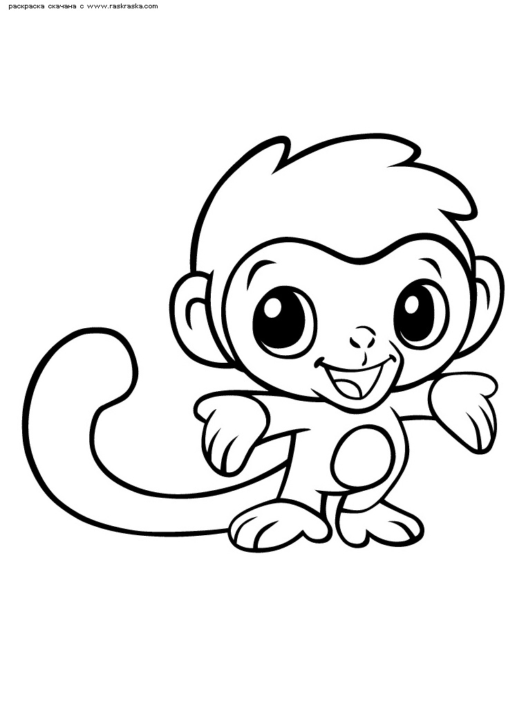 Картинка обезьянки для детей 019