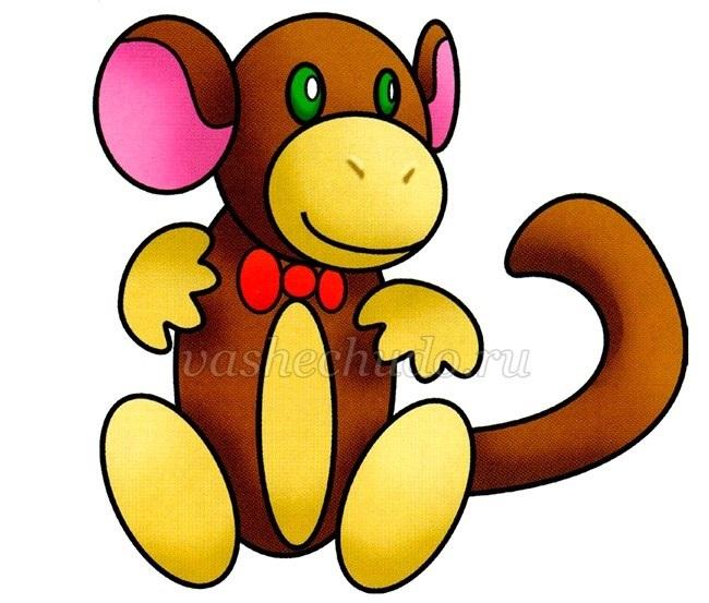 Картинка обезьянки для детей 020