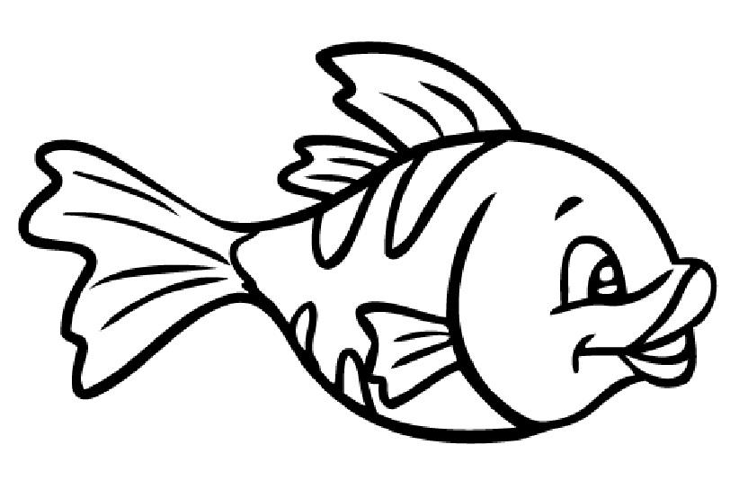 Картинка рыбка раскраска для детей