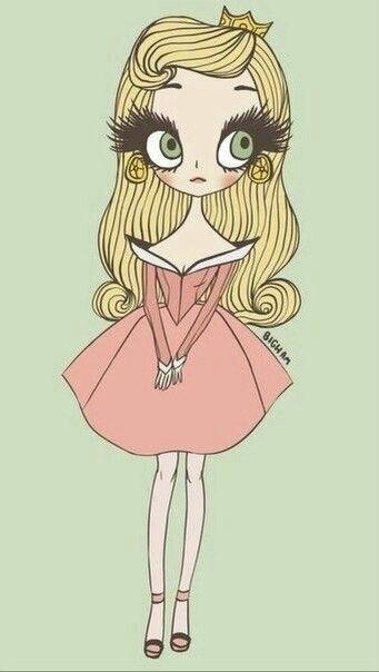 Картинки для срисовки принцессы диснея 003