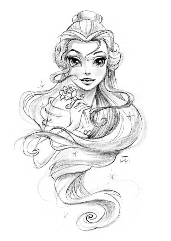 Картинки для срисовки принцессы диснея 012