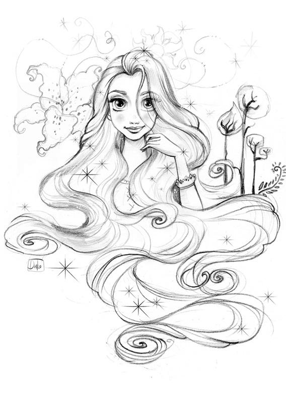 Картинки для срисовки принцессы диснея 015