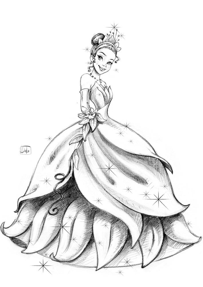 Картинки для срисовки принцессы диснея 020