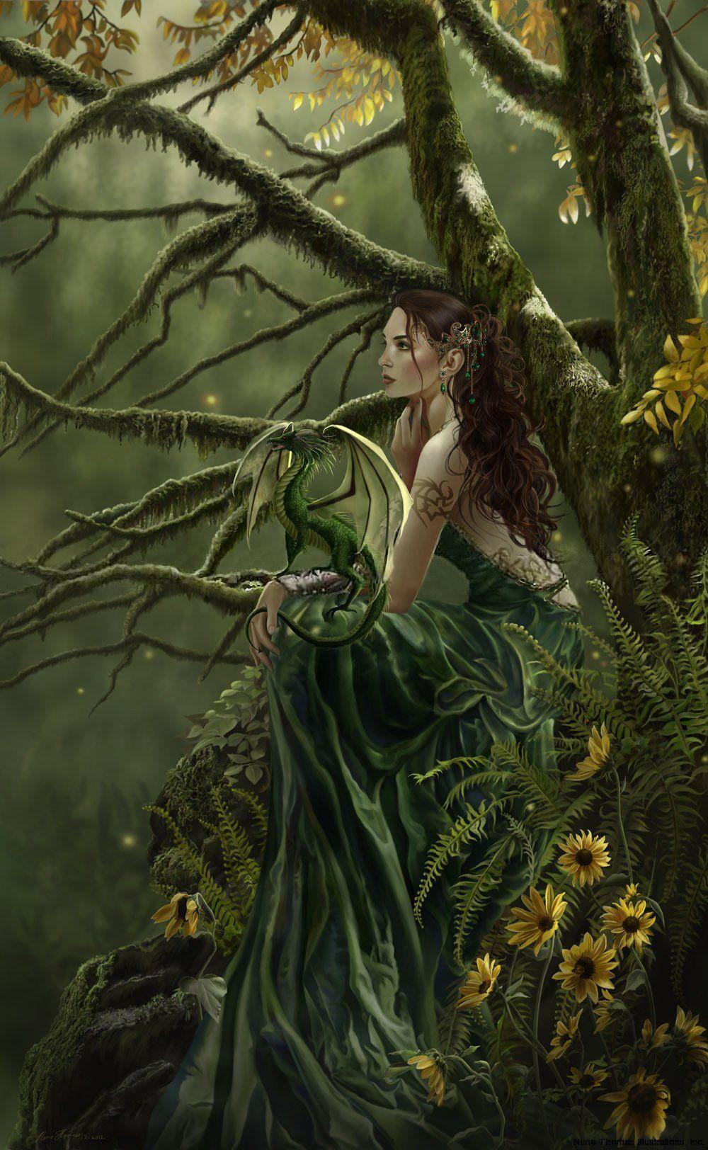 Картинки и арты русалки, феи, эльфы, ангелы (12)