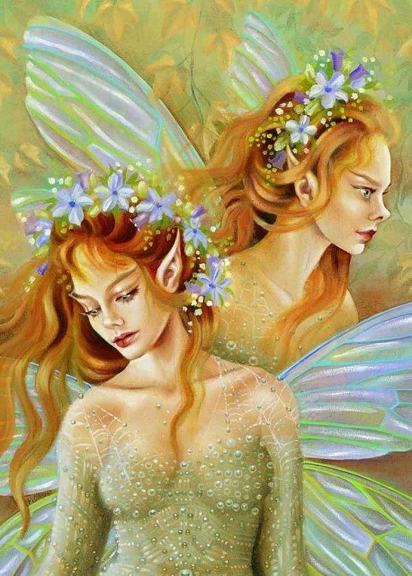 Картинки и арты русалки, феи, эльфы, ангелы (17)