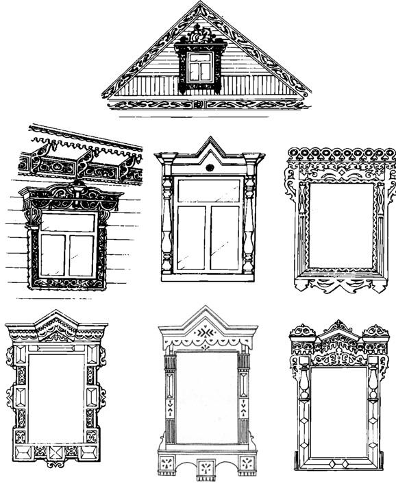 Картинки как нарисовать окно с узорами 001