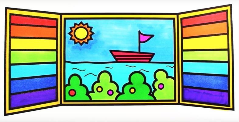Картинки как нарисовать окно с узорами 002