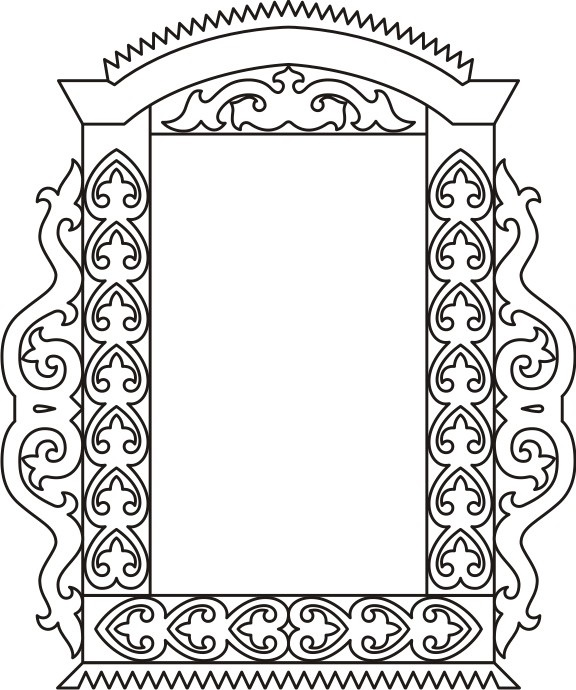 Картинки как нарисовать окно с узорами 003