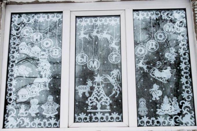 Картинки как нарисовать окно с узорами 004