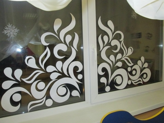 Картинки как нарисовать окно с узорами 005