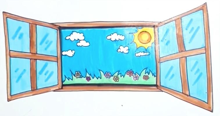Картинки как нарисовать окно с узорами 010