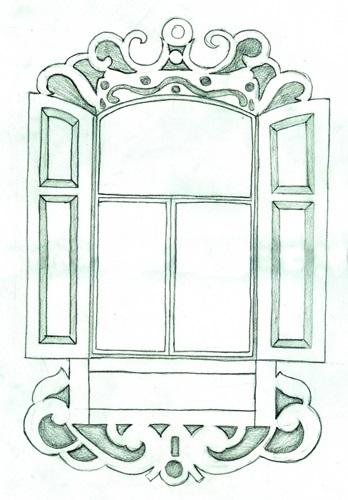 Картинки как нарисовать окно с узорами 011