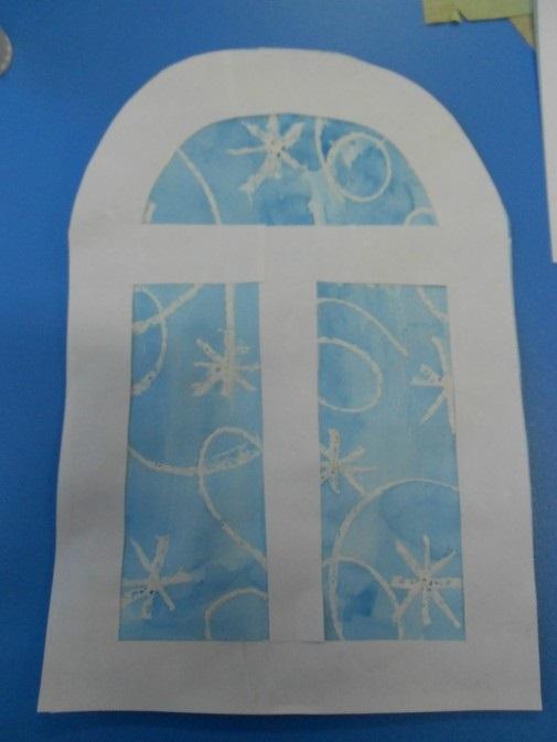 Картинки как нарисовать окно с узорами 013