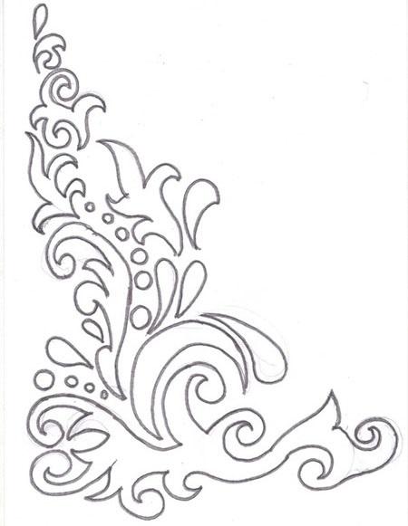 Картинки как нарисовать окно с узорами 018