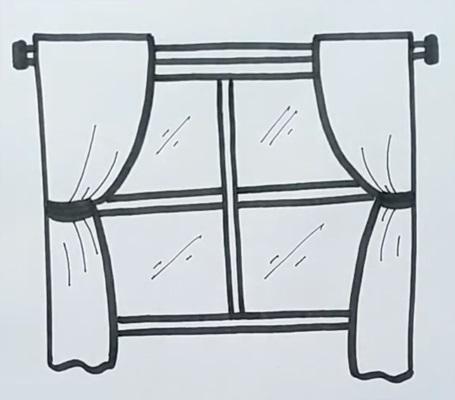 Картинки как нарисовать окно с узорами 020