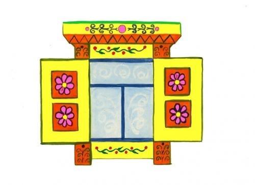 Картинки как нарисовать окно с узорами 021