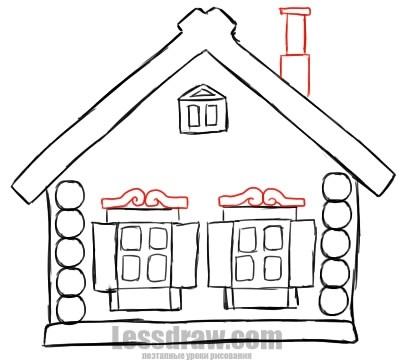 Картинки как нарисовать окно с узорами 022