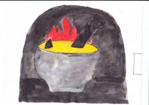 Картинки как нарисовать сказку каша из топора карандашом 019