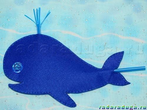 Картинки кит из фетра 018
