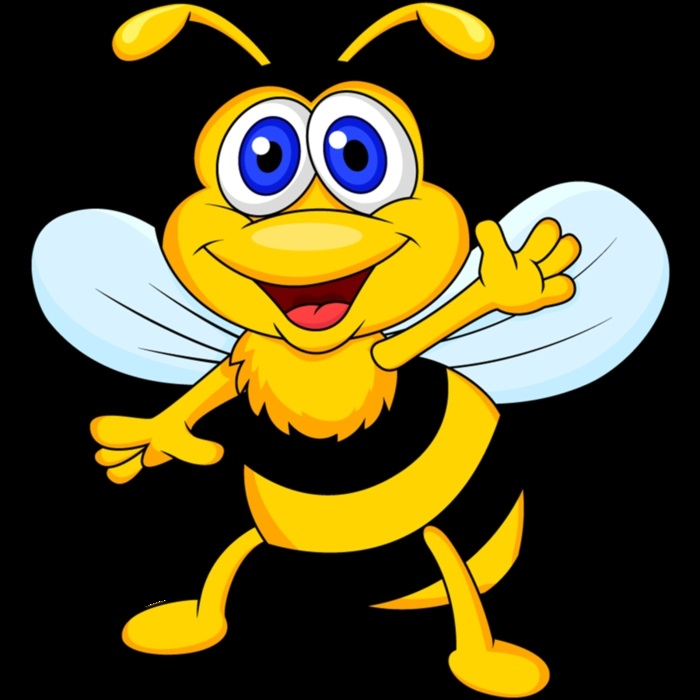 Картинка пчелки смешная