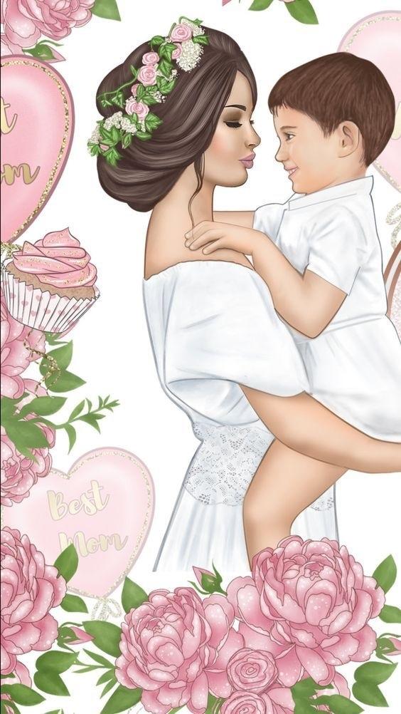 Марта самые, картинки мамы и дочки с любовью нарисованные с надписями