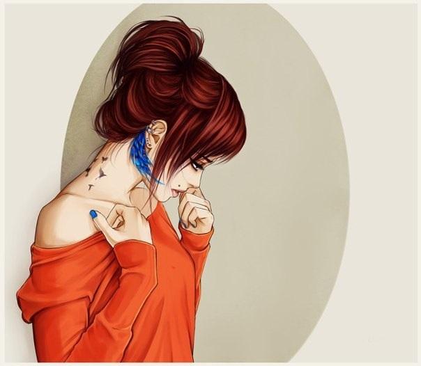 Картинки рыжих девушек нарисованных на аву, картинки любимым человеком