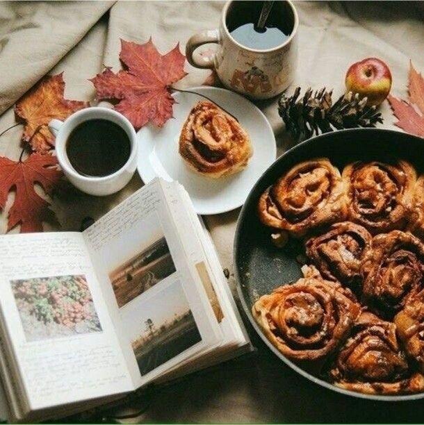 Картинки осень плед и кофе 008