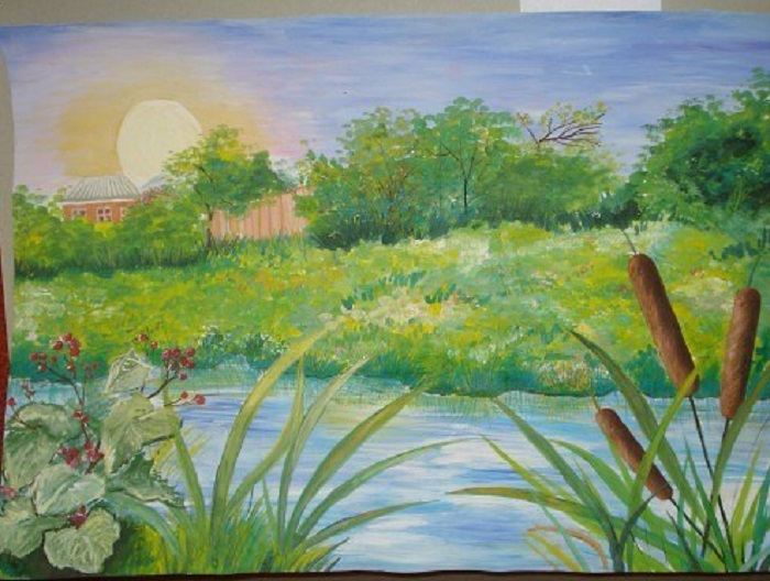 Картинки пейзаж для срисовки 005