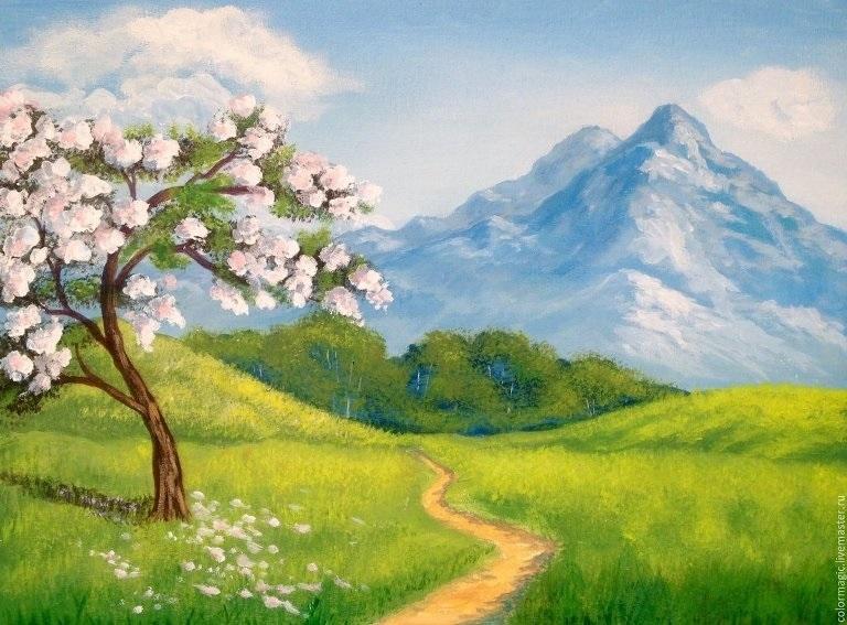 Картинки пейзаж для срисовки 006