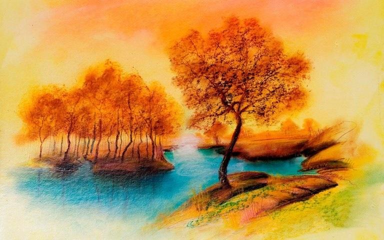 Картинки пейзаж для срисовки 009