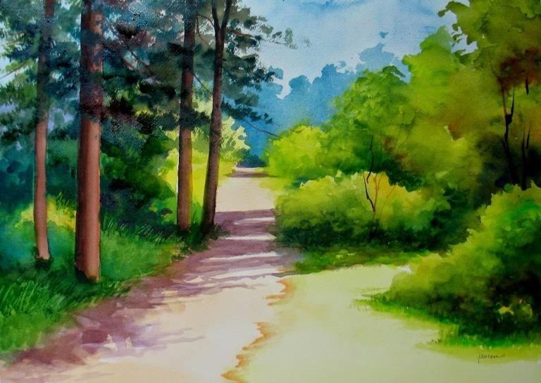 Картинки пейзаж для срисовки 012