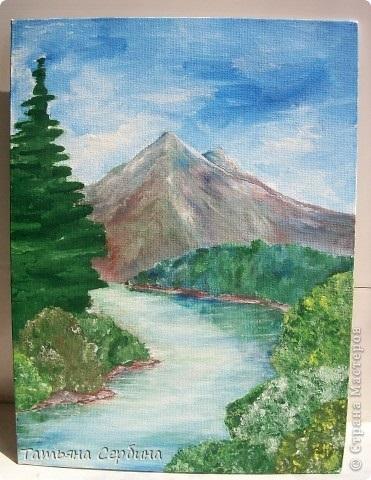 Картинки пейзаж для срисовки 020