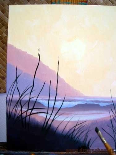 Картинки пейзаж для срисовки 027