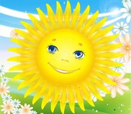 Картинки солнышко для детей 004