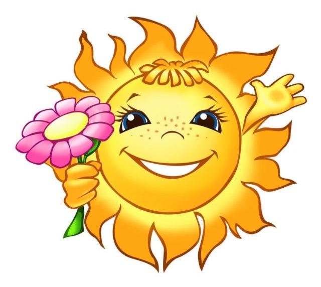 Картинки солнышко для детей 016
