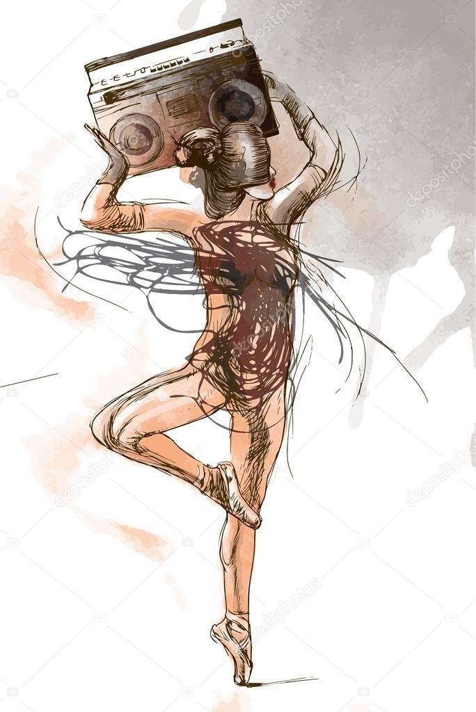 Картинки танцы нарисованные 003